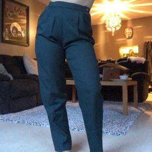 Pants - Super High Waist Forrest Green Vintage Trousers